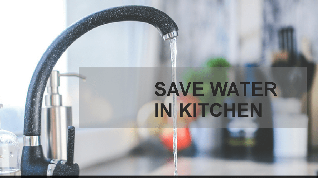 save water in kitchen foot operated taps